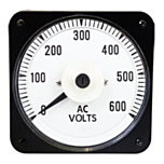 "Ram Meter Inc. MCS 4.5"" Metal Case Switchboard Style Panel Meters for AC Voltage inputs"
