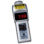 Shimpo Instruments DT-207LR Handheld Contact/Non-Contact Tachometer w/LED Display