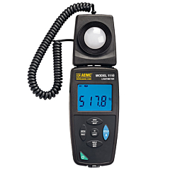 AEMC Instruments 2121.71 - 1110 Light Meter & Data Logger - 20,000 Fc / 200,000 Lux