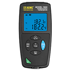 AEMC Instruments 2121.75 - 1822 Thermocouple Thermometer 2-Channel -416-3212°F (-249-1767°C)