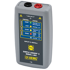 AEMC Instruments 2126.05 - L261 Single-Channel True-RMS AC/DC Voltage Data Logger