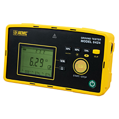 AEMC Instruments 2135.57 - 6424 3-Point Digital Ground Resistance Tester - 50k Ohm, ACA & AC/DCV Measurement & Memory