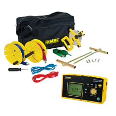 AEMC Instruments 2135.58 - 6424 3-Point Digital Ground Resistance Tester - 50k Ohm, ACA & AC/DCV Measurement & Memory w/150 ft KIT