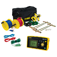 AEMC Instruments 2135.59 - 6424 3-Point Digital Ground Resistance Tester - 50k Ohm, ACA & AC/DCV Measurement & Memory w/300 ft KIT