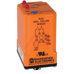 ATC Diversified SPM-120-ABA-100K Dual Channel Seal Failure Alarm - 120 VAC, 4.7k-100K Ohms, +/10% Adjustable