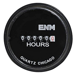 ENM Instruments T50B1 - Elapsed Time Meter - 6-Digit, 230 ACV, Non-Resettable, Hours