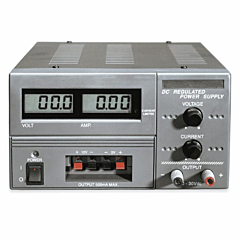 Extech Instruments 382213 Triple Output DC Power Supply - Adjustable 30DCV/3DCA & Fixed 5DCV & 12DCV Outputs