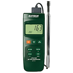 Extech Instruments 407119 - Heavy-Duty Hot Wire CFM Thermo-Anemometer