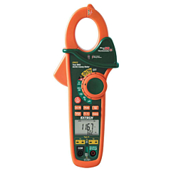 Extech Instruments EX623 Clamp-on Multimeter - 400 AC/DCA, 600 AC/DCV, Freq, Res, Cap, Temp True-RMS + NCV & IR-Thermometer