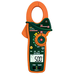 Extech Instruments EX820 Clamp-on Multimeter - 1000 ACA, 600 AC/DCV, Freq, Res, Cap, Temp True-RMS + IR-Thermometer