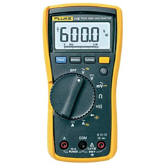Fluke Electronics FLUKE-115 Digital Multimeter - 600 AC/DCV True-RMS, 10 AC/DCA, Diode, Cap, Res & Freq