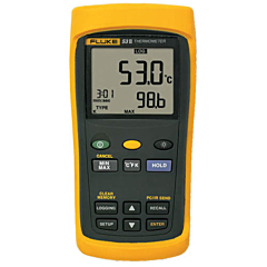 Fluke Electronics FLUKE-53-2B Single Input Digital Thermometer w/USB Recording -418-3212°F (-250-1767°C)