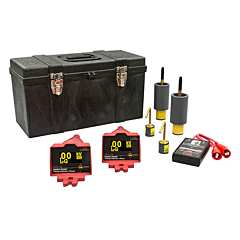 HD Electric DDVIP-138/K02 Double Vision® Dual Display Wireless Voltage Indicating Phaser KIT02 - 100V-138kV w/Proof Tester & Underground Bushing Probes
