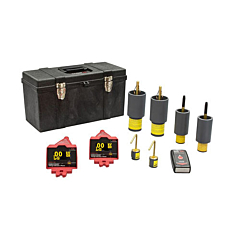 HD Electric DDVIP-138/K03 Double Vision® Dual Display Wireless Voltage Indicating Phaser KIT03 - 100V-138kV w/Proof Tester, Underground Bushing Probes & RTE Bushing Probes