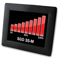 "Lascar Electronics SGD 35-M Panel Pilot M Digital Panel Meter - DCV Input w/Programmable 3.5"" Color Touchscreen Display & DCV Power"