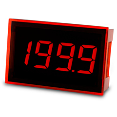 Lascar Electronics SP 100 Digital Panel Meter - DCV Input w/3.5-Digit Low Profile Red LED Display & DCV Power (12-pin)
