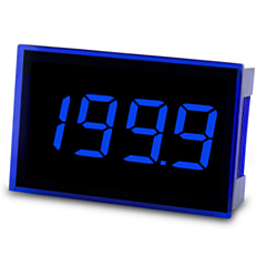 Lascar Electronics SP 300-BLUE Digital Panel Meter - DCV Input w/3.5-Digit Low Profile Blue LED Display & DCV Power (8-pin)