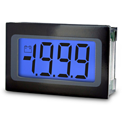 Lascar Electronics SP 400-BLUE Digital Panel Meter - DCV Input w/3.5-Digit Low Profile Blue LCD Display & DCV Power (9-pin)
