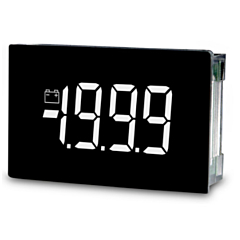 Lascar Electronics SP 400-EB-W Digital Panel Meter - DCV Input w/3.5-Digit Low Profile Black & White LCD Display & DCV Power (9-pin)