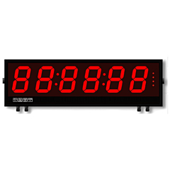 Laurel Electronics Magna Series Large Digit Display - 6-Digit w/RS232/RS485 Serial Data Input