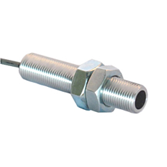 "Phares MS0303-04 Mini Hall Effect Sensor w/5/8-18 3.0"" Thread, 5-24VDC w/Sinking NPN Square Wave Output"