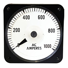 "Ram Meter Inc. MCS 4.5"" Metal Case Switchboard Style Panel Meters for AC Amperage inputs"