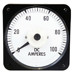 "Ram Meter Inc. MCS 4.5"" Metal Case Switchboard Style Panel Meters for DC Amperage inputs"