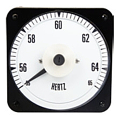 """Ram Meter Inc. MCS 4.5"""" Metal Case Switchboard Style Panel Meters for Frequency inputs"""
