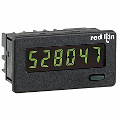 Red Lion Controls CUB4L010 6-Digit Digital Counter w/Yellow/Green Backlit LCD Display