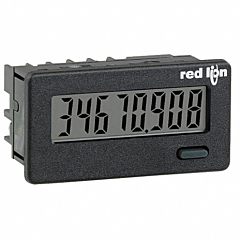 Red Lion Controls CUB4L800 8-Digit Digital Counter w/Non-Backlit LCD Display