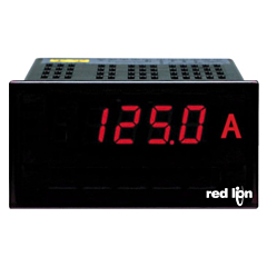 Red Lion Controls PAXLID00 PAX Lite DC Current Meter - 199.9 DCuA/199.9 DCmV - 1.999 DCA w/Red LED Display & ACV Power