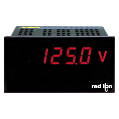 Red Lion Controls PAXLVD00 PAX LITE DC Voltage Meter 0-300 w/Red LED Display & ACV Power