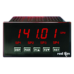 Red Lion Controls PAXP0010 Process Meter w/Red LED Display & DC Power