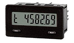 Red Lion Controls CUB5TR00 Miniature 7-Digit Timer w/Reflective LCD Display