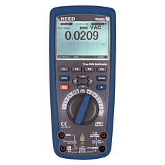 Reed Instruments R5005 Digital Multimeter - 10 AC/DCA, 1000 AC/DCV, True-RMS w/Datalogging