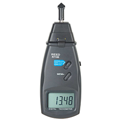 Reed Instruments R7100 Handheld Contact/Non-Contact Tachometer