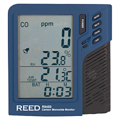 Reed Instruments R9450 Carbon Monoxide Monitor w/Temp & Humidity