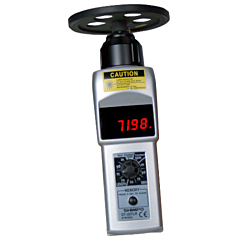 "Shimpo Instruments DT-207LR-S12 Handheld Contact/Non-Contact Tachometer w/LED Display & 12"" Wheel"