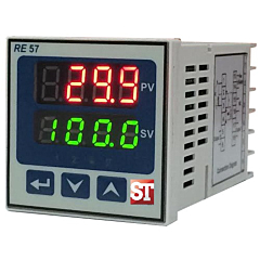 Sifam Tinsley RE57 Compact PID Controller - Temp/RTD, Process w/Relay Outputs (48x48 mm)
