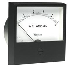 Simpson Electric Century Style Analog Panel Meter - AC Ammeters