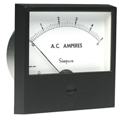 Simpson Electric Century Style Analog Panel Meter - DC Ammeters
