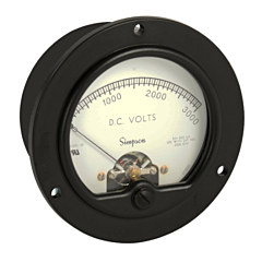 Simpson Electric Round Style Analog Panel Meter - Frequency
