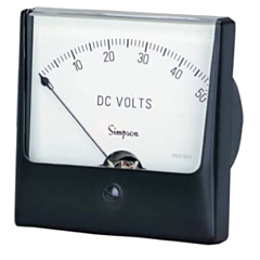 Simpson Electric Wide-Vue Style Analog Panel Meter - Frequency