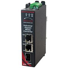 Sixnet SLX-3EG-1SFP Unmanaged Media Converter - 3 Port
