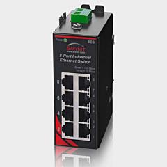 Sixnet SLX-8ES-6 Multimode Unmanaged Ethernet Switch - 8 Port