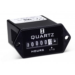 Trumeter 722-0001 Elapsed Time Meter - 6-Digit, 90-264 ACV, Non-Resettable, Hours