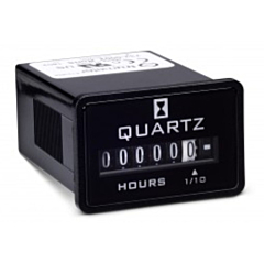 Trumeter 732-0002 Elapsed Time Meter - 6-Digit, 10-80 DCV, Non-Resettable, Hours