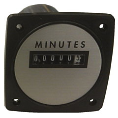 """Yokogawa 240613ACAD - Elapsed Time Meter - 2.5"""", 6-Digit, 480V, Non-resettable - Minutes"""